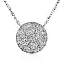 Jewellery Pave set CZ Necklace 17 inches/43cm Watch CN044-17