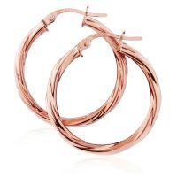 Jewellery Twisted Hoop Earrings JEWEL ER893
