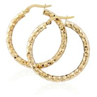 Jewellery Hammered Hoop Earrings JEWEL ER909