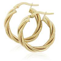 Jewellery Twist Hoop Earrings Watch ER916