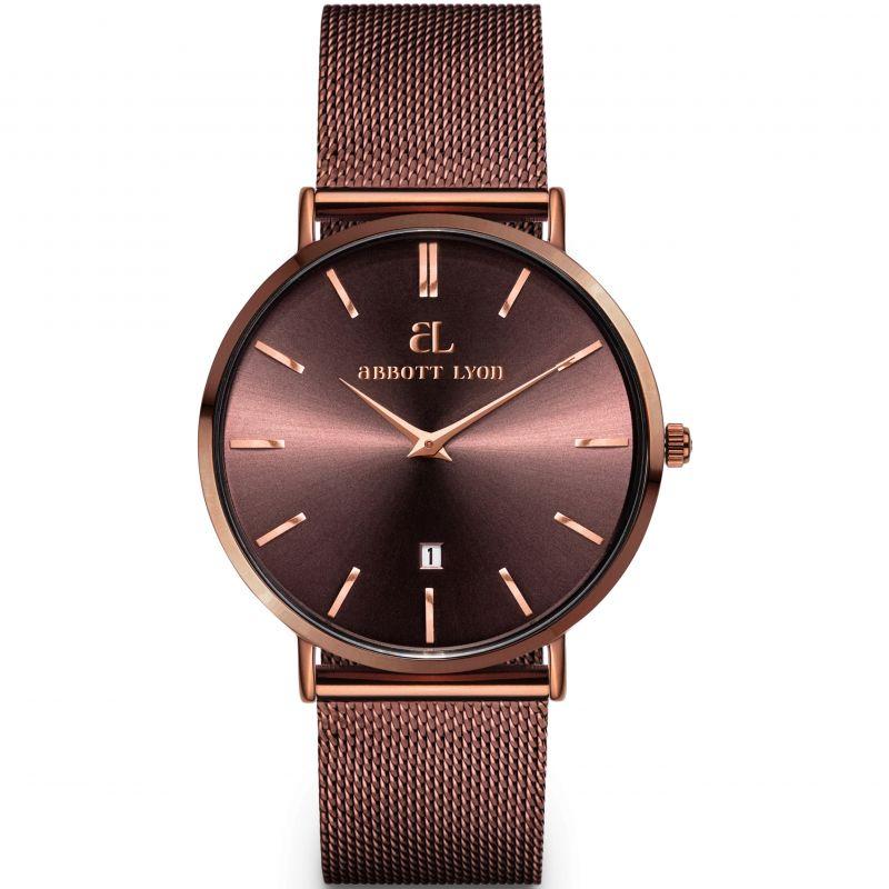 Unisex Abbott Lyon Mocha Chain Stellar 34 Watch