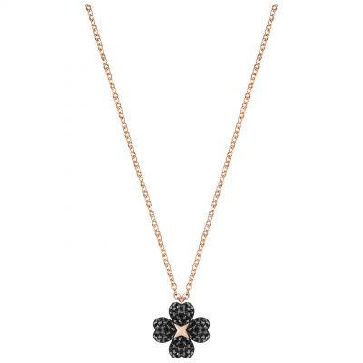Ladies Swarovski Rose Gold Plated Latisha Flower Necklace 5420246
