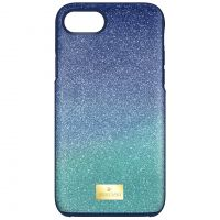 Damen Swarovski hoch Ombre Blau Iphone 7 Case