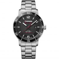 Wenger Roadster Black Night Herenhorloge Zilver 011841104