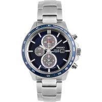 Herren Seiko solar Sport Wecker Chronograf solarbetrieben Uhren
