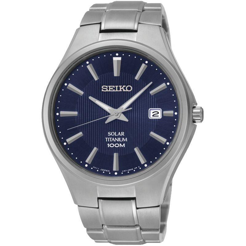 Mens Seiko Solar Titanium Solar Powered Watch