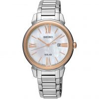 Ladies Seiko Dress Solar Solar Powered Watch SUT326P1