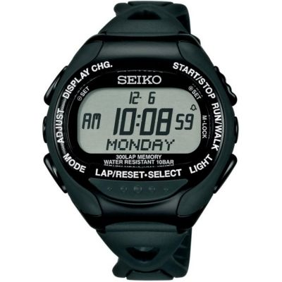 Unisex Seiko Superrunner Solar Alarm Chronograph Watch SBDH015J