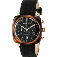 unisexe Briston Clubmaster Vintage Actate Chronograph Watch 17140.PRA.TV.1.LFB