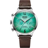 Welder The Moody 38mm Dual Time Unisexklocka Brun K55/WWRC113