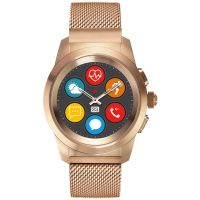 MyKronoz ZeTime Elite Bluetooth Smartwatch with Rose Gold Milanese Petite 122793