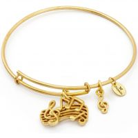 Chrysalis Dames Spirited Music Expandable Bangle Verguld goud CRBT1208GP