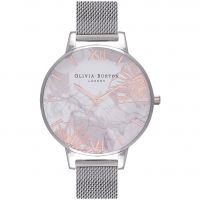 Olivia Burton Abstract Florals Dameshorloge Zilver OB16VM20