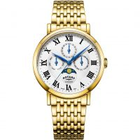 Mens Rotary Windsor Moonphase Watch