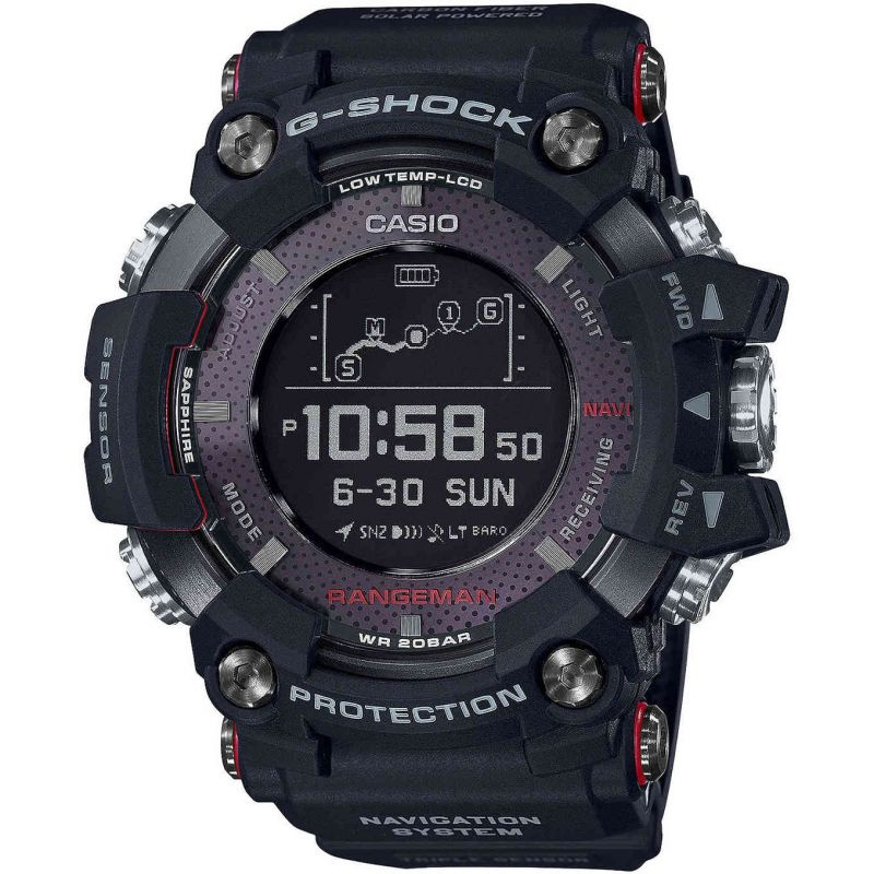 Mens Casio G-Shock Rangeman Bluetooth GPS Tough Solar Watch