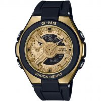 Damen Casio G-Ms Glamorous Gold Alarm Chronograph Watch MSG-400G-1A2ER