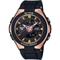 Damen Casio G-Ms Glamorous Gold Alarm Chronograph Watch MSG-400G-1A1ER