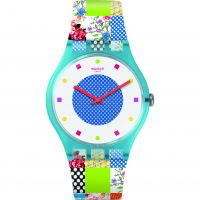 Unisex Swatch Quilted Time Watch SUOS108