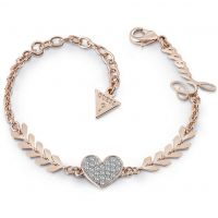 Ladies Guess Rose Gold Plated Cupid Bracelet