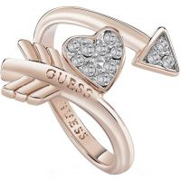 femme Guess Jewellery Cupid Ring Watch UBR85014-54