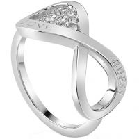 Ladies Guess Silver Plated Endless Love Ring