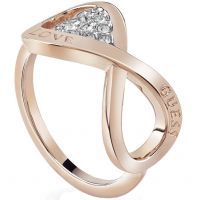 Guess Dames Endless Love Ring Verguld Rose Goud UBR85005-54