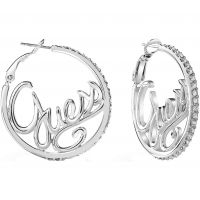 Guess Dam Guess Authentics Earrings Silverpläterad UBE85077