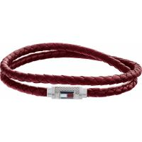 Tommy Hilfiger Jewellery Iconic Braided Leather Double Bracelet Watch 2790010
