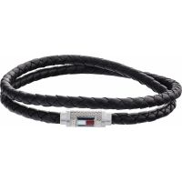 Tommy Hilfiger Iconic Braided Leather Double Bracelet 2790011