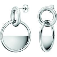 Calvin Klein Dames Locked Earrings Roestvrijstaal KJ8GME000100