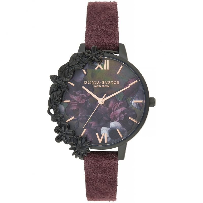 After Dark Black & Wine Suede Watch