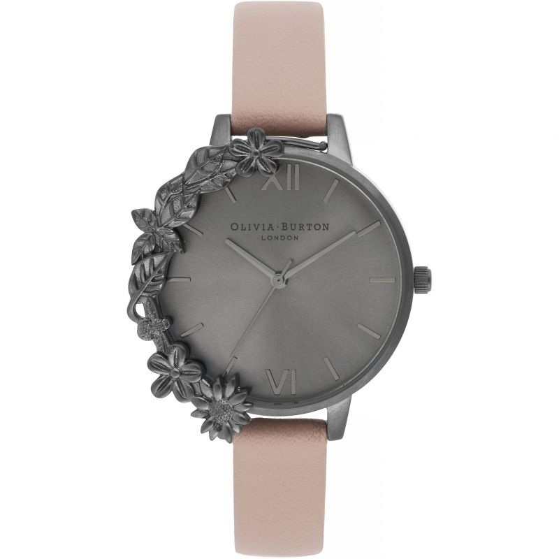 After Dark Ip Black & Dusty Pink Watch