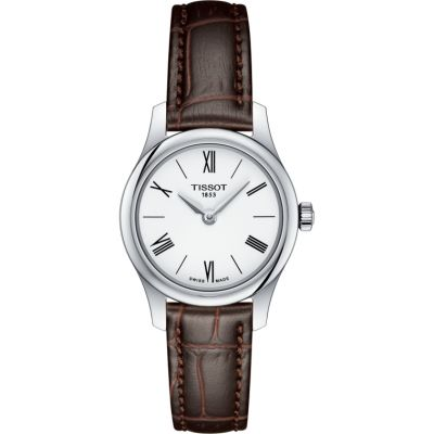 Tissot Slim Tradition Damenuhr in Braun T0630091601800