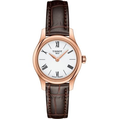 Tissot Slim Tradition Damenuhr in Braun T0630093601800