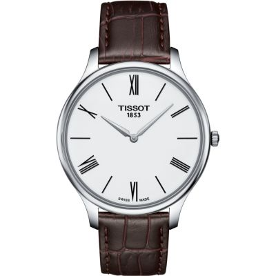 Tissot Slim Tradition Herrenuhr in Braun T0634091601800