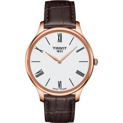 Tissot Slim Tradition Herrenuhr in Braun T0634093601800