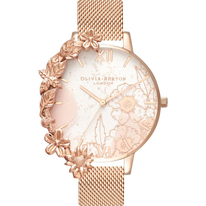 Case Cuffs Silver & Rose Gold Watch