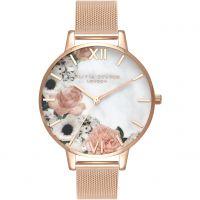 Damen Olivia Burton Marble Florals Watch OB16MF13