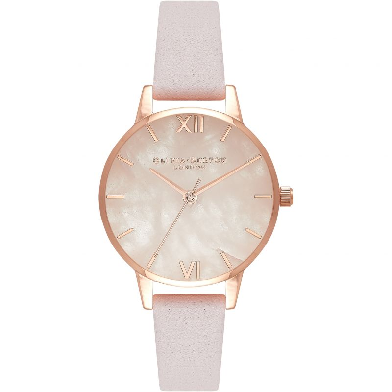 Mother Of Pearl Bracelet Rose Gold And Silver & Blossom Watch