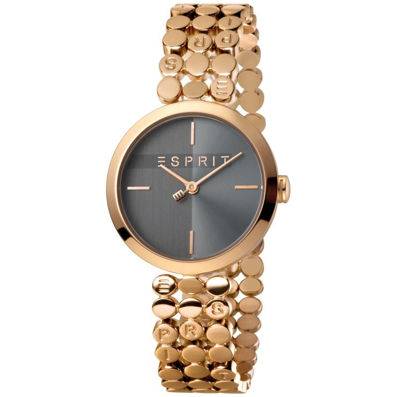 Esprit Bliss Women's Watch featuring a Stainless Steel,  Rose gold Coloured Strap and Grey Dial