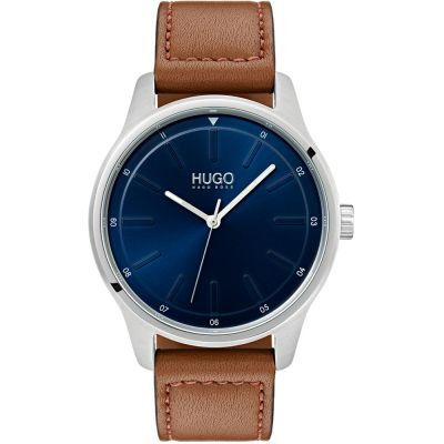 HUGO #DARE #Dare Herrenuhr in Braun 1530029