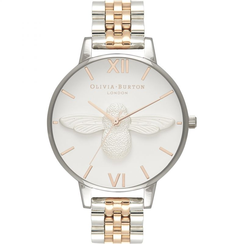 3D Bee Rose Gold & Rose Gold And Silver Watch