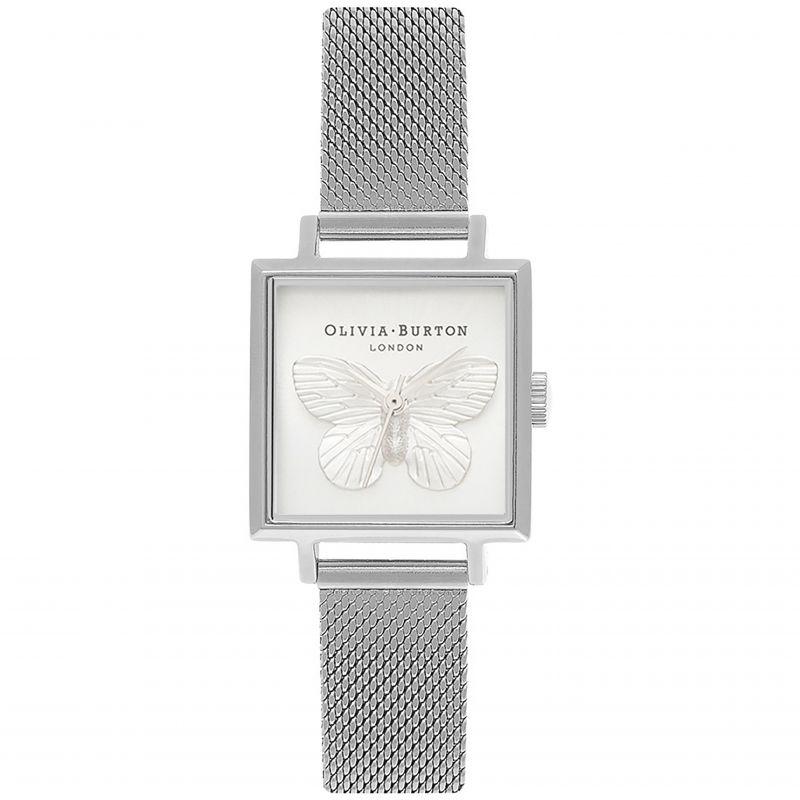 3D Butterfly Silver & Silver Watch