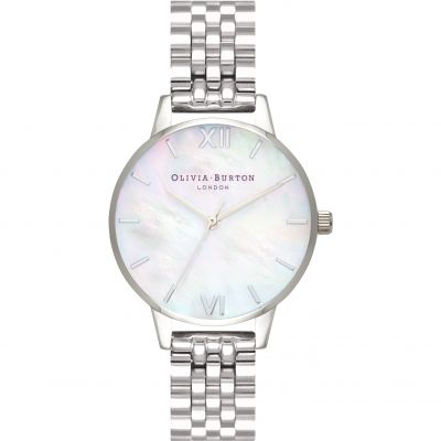 Mother Of Pearl Bracelet Silver Watch