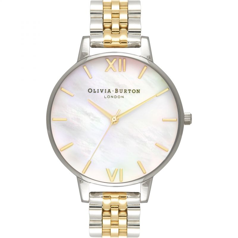 Mother Of Pearl Bracelet Rose Gold & Gold And Silver Watch