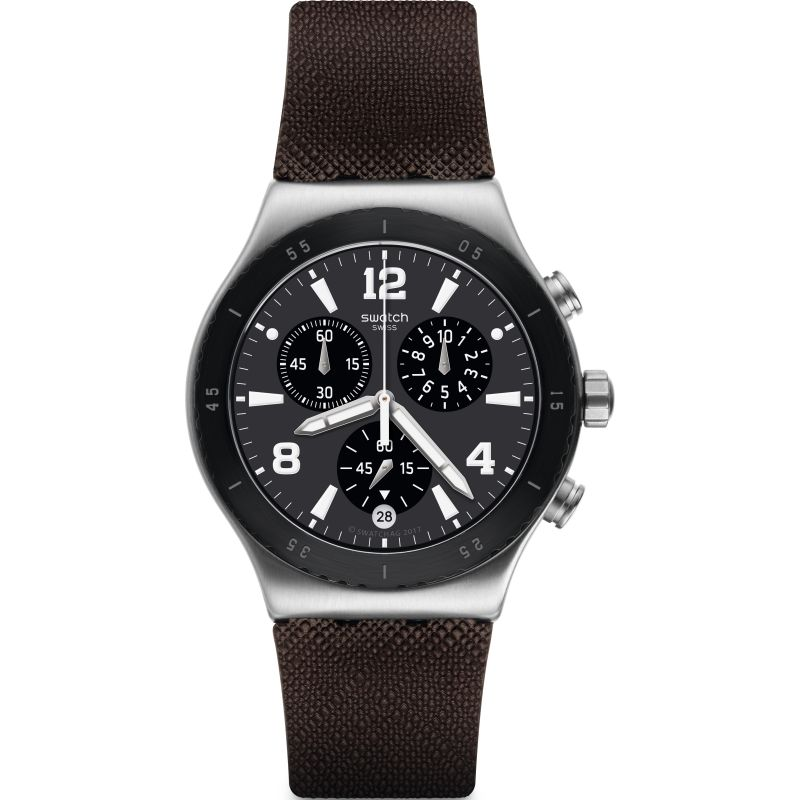 Swatch Duo Brown Watch