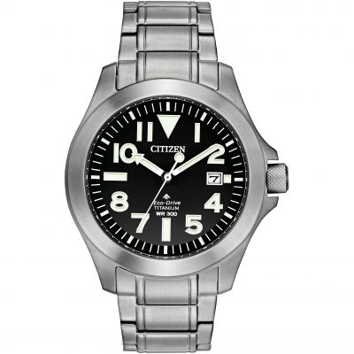 Mens Citizen Eco-drive Promaster Tough Wr300 Titanium Watch BN0118-55E