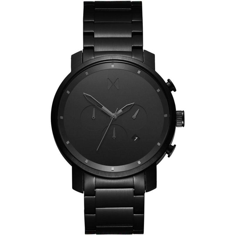 MVMT Black Link Chrono Watch