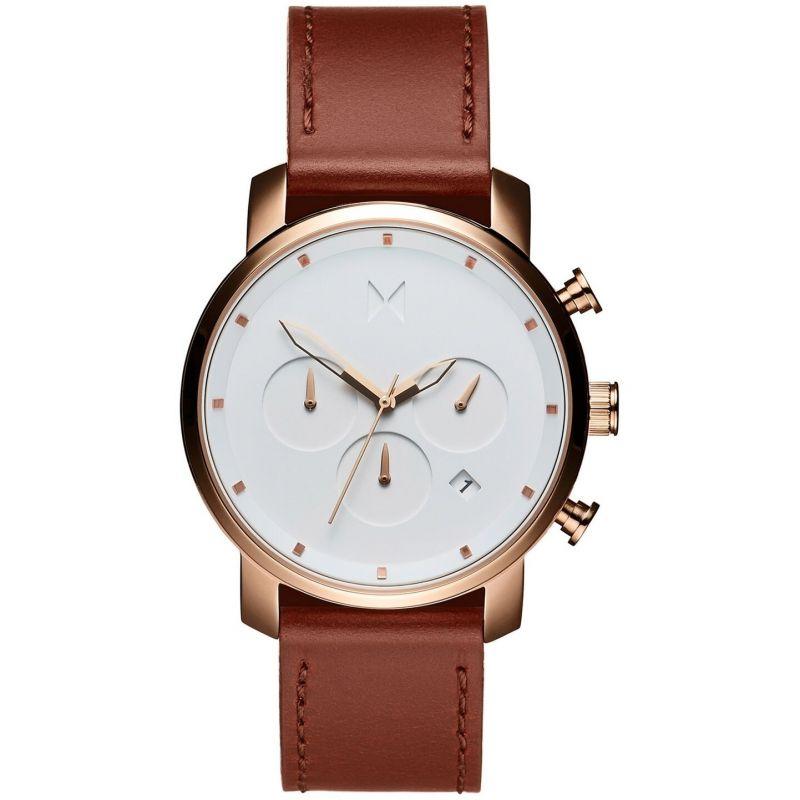 MVMT Rose Gold Natural Tan Chrono 40 Watch