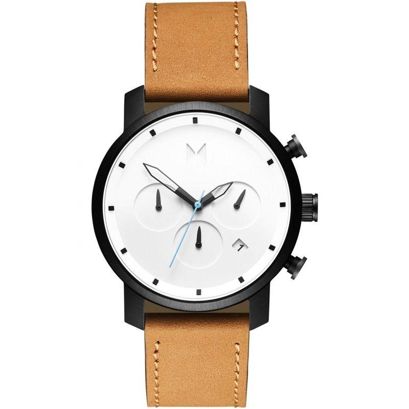 MVMT White Black Tan Chrono 40 Watch